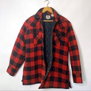 Ely Cattleman Buffalo Plaid Flannel Shirt Jacket